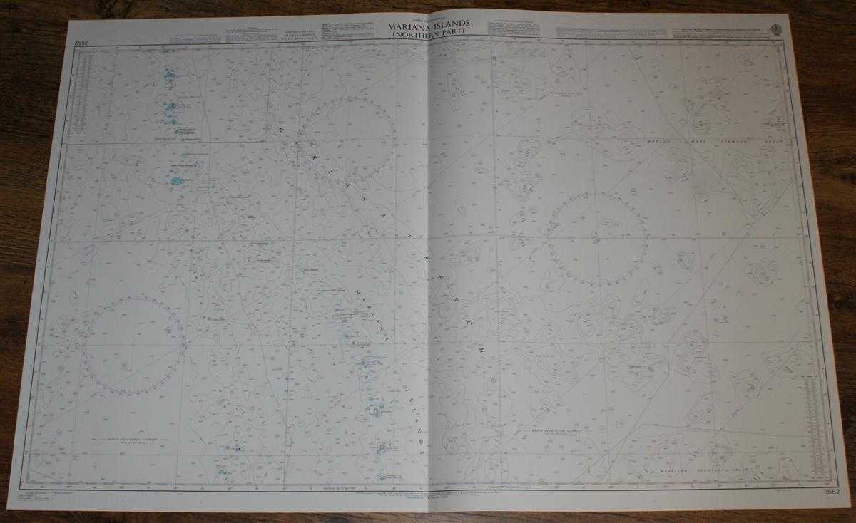 Image for Nautical Chart No. 3552 North Pacific Ocean - Mariana Islands (Northern Part)