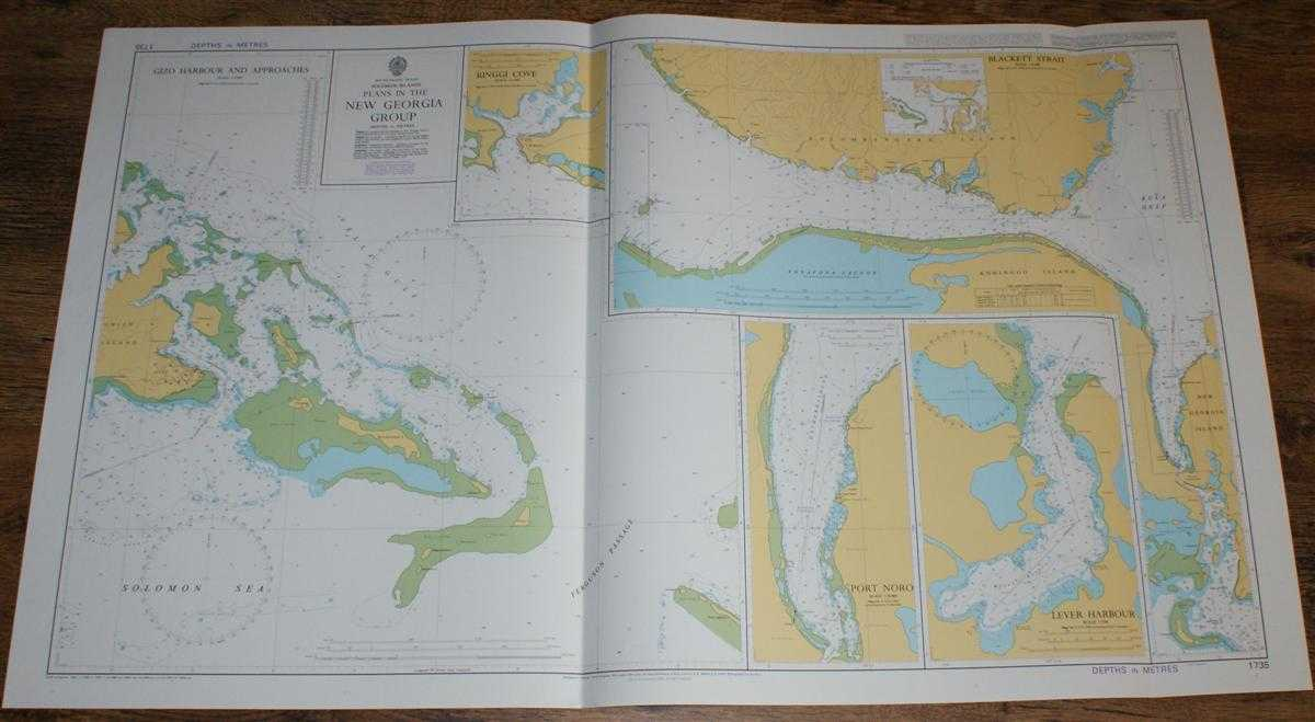 Nautical Chart No. 1735 South Pacific Ocean, Solomon Islands, Plans in the New Georgia Group, Admiralty