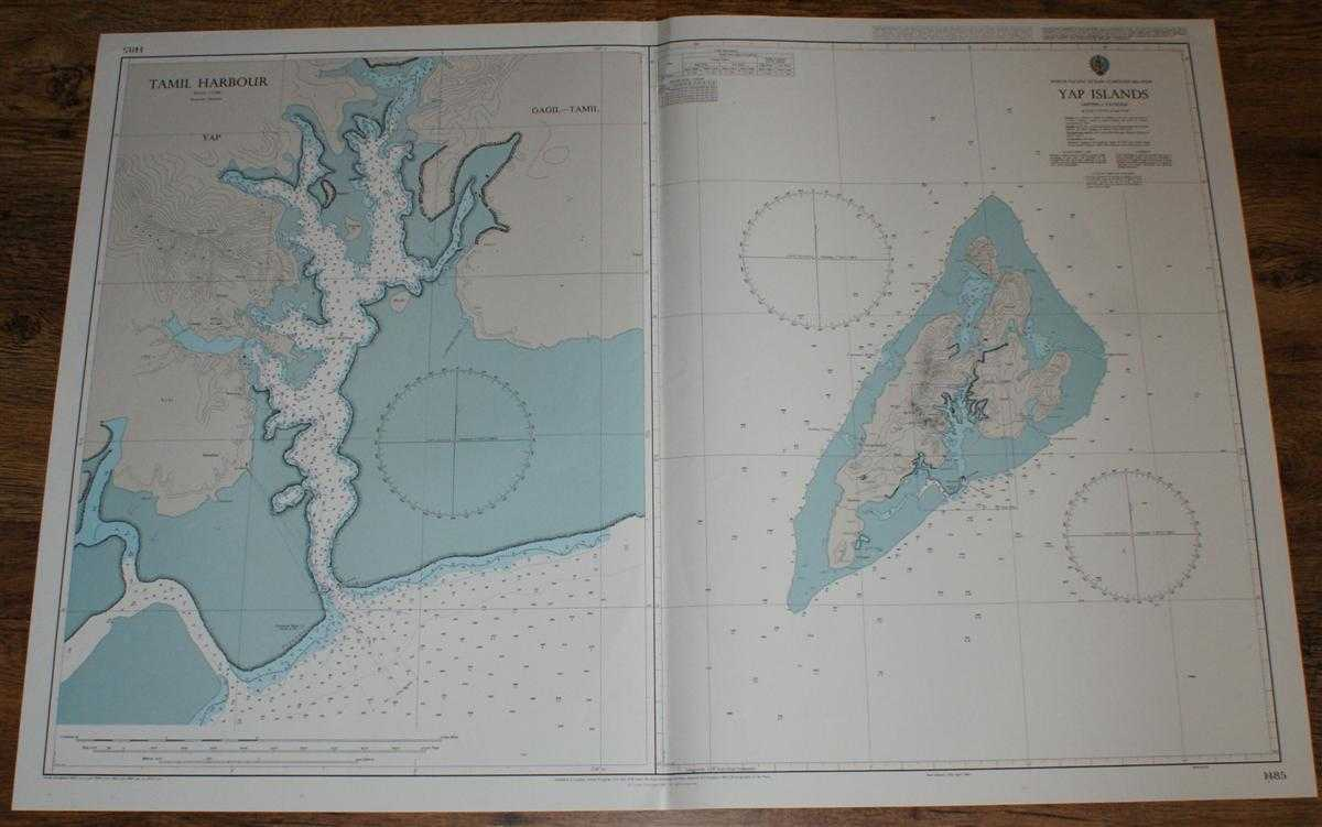 Nautical Chart No. 1485 North Pacific Ocean - Caroline Islands, Yap Islands, Admiralty