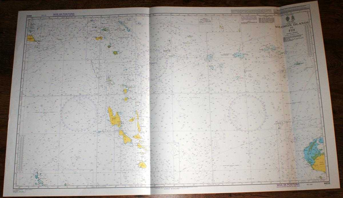 Image for Nautical Chart No. 4633 Pacific Ocean - Soloman Islands to Fiji including Vanuatu