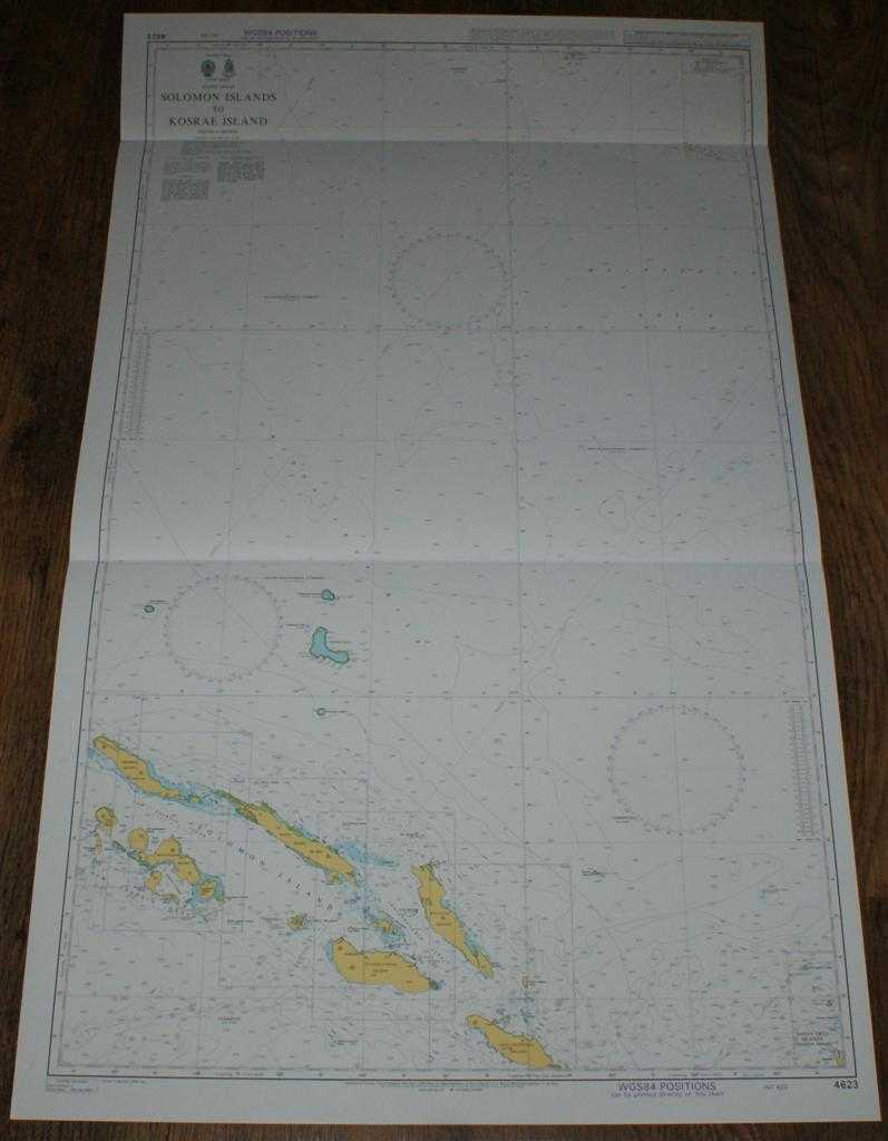 ADMIRALTY - Nautical Chart No. 4623 Pacific Ocean, Solomon Islands to Kosrae Island
