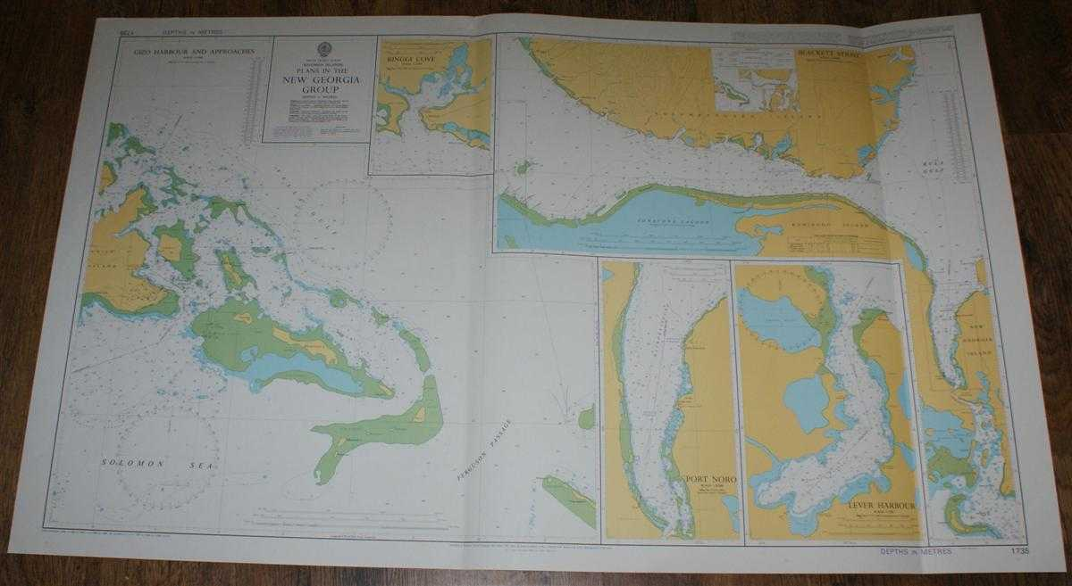 Nautical Chart No. 1735 South Pacific Ocean, Solomon Islands - Plans in the New Georgia Group, Admiralty
