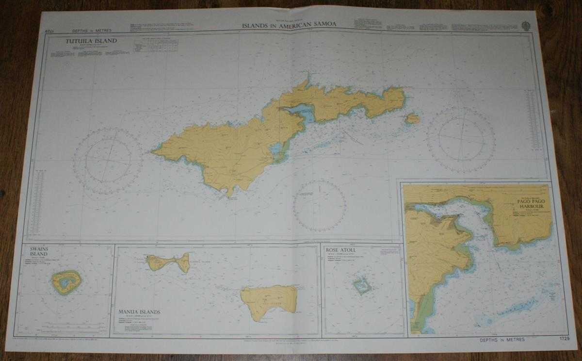 Nautical Chart No. 1729 South Pacific Ocean - Islands in American Samoa, Admiralty