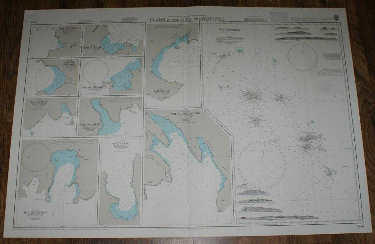 Nautical Chart No. 1640 South Pacific Ocean - Polynesie Francaise, Plans in the Iles Marquises, Admiralty
