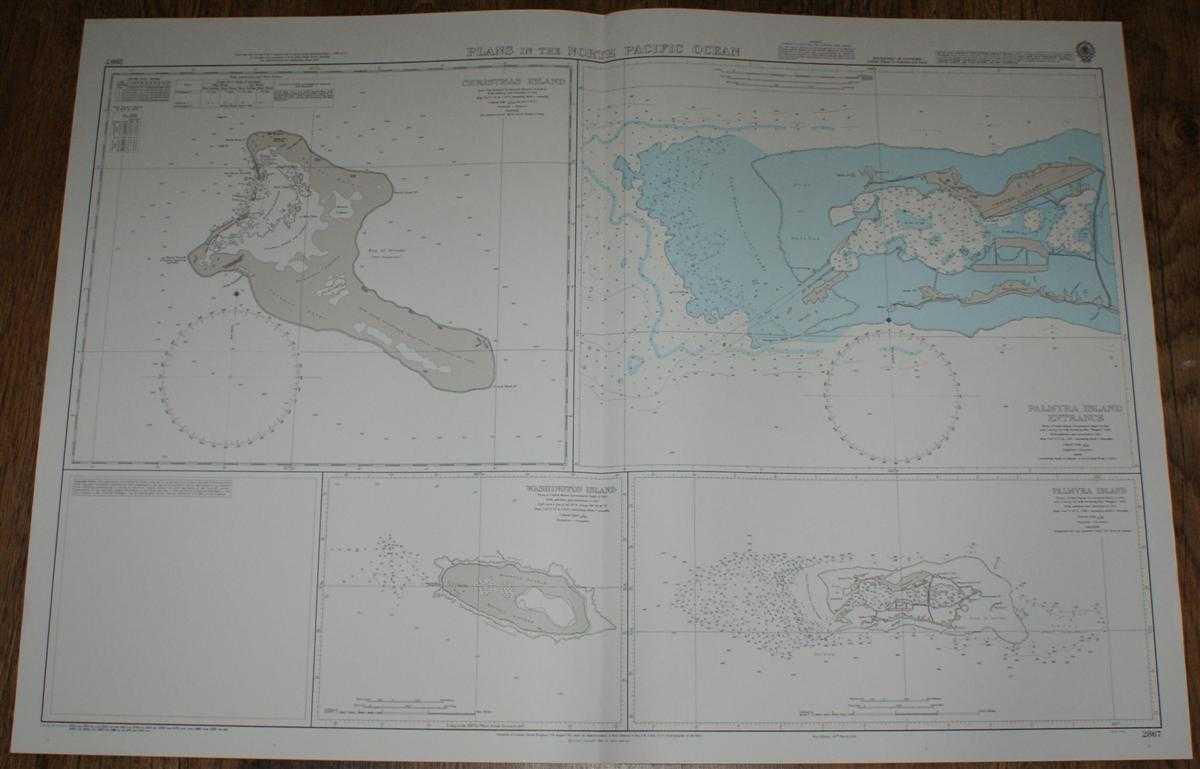 Nautical Chart No. 2867 Plans in the North Pacific Ocean including Christmas Island, Admiralty
