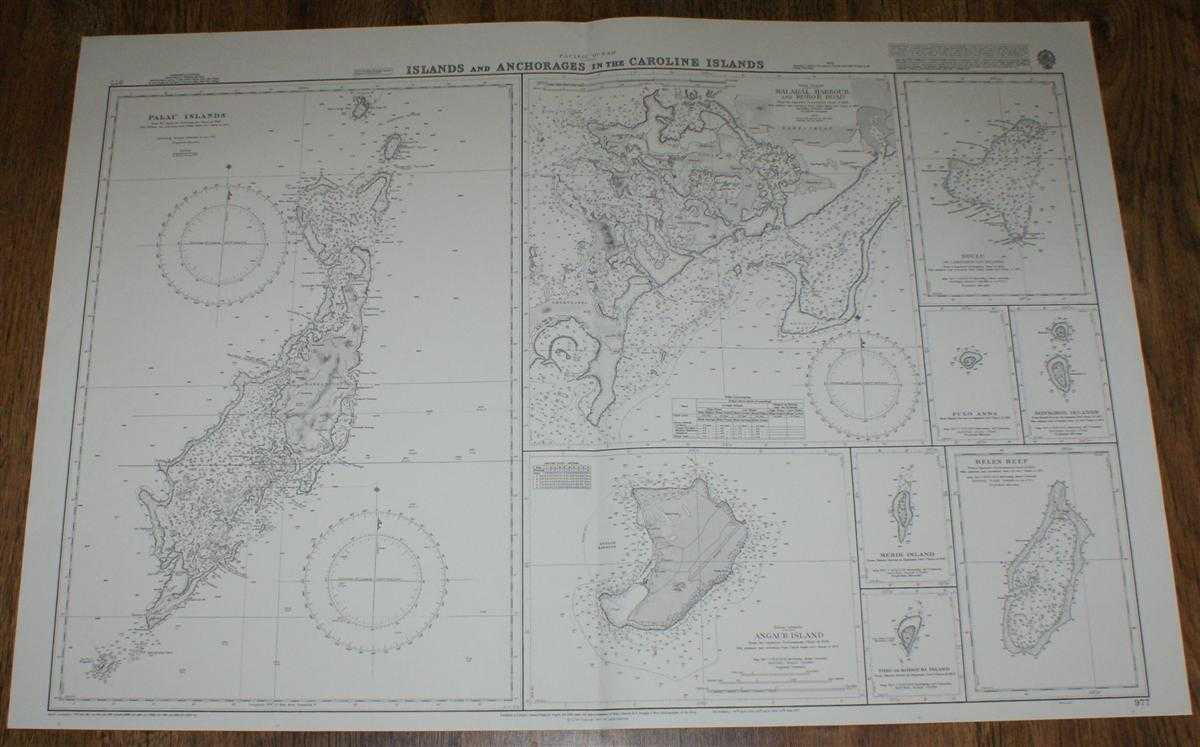 Nautical Chart No. 977 Pacific Ocean - Islands and Anchorages in the Caroline Islands, Admiralty