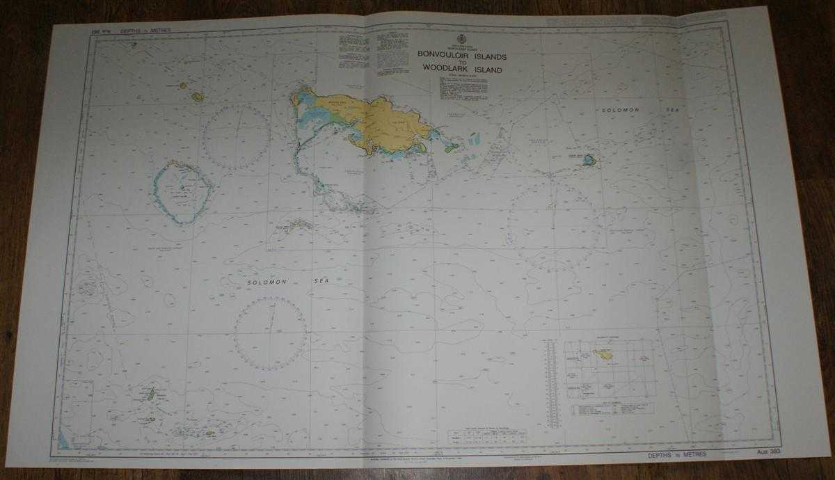 Nautical Chart No. AUS 383 Papua New Guinea - North East Coast, Bonvouloir Islands to Woodlark Islands, Admiralty