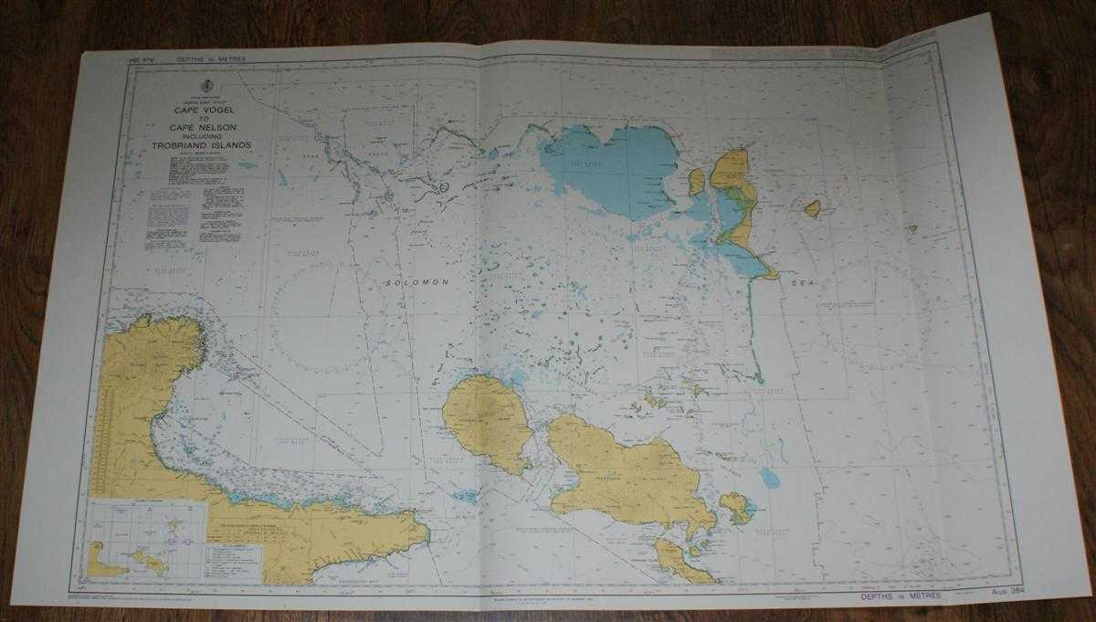Image for Nautical Chart No. AUS 384 Papua New Guinea - North East Coast, Cape Vogel to Cape Nelson including Trobriand Islands