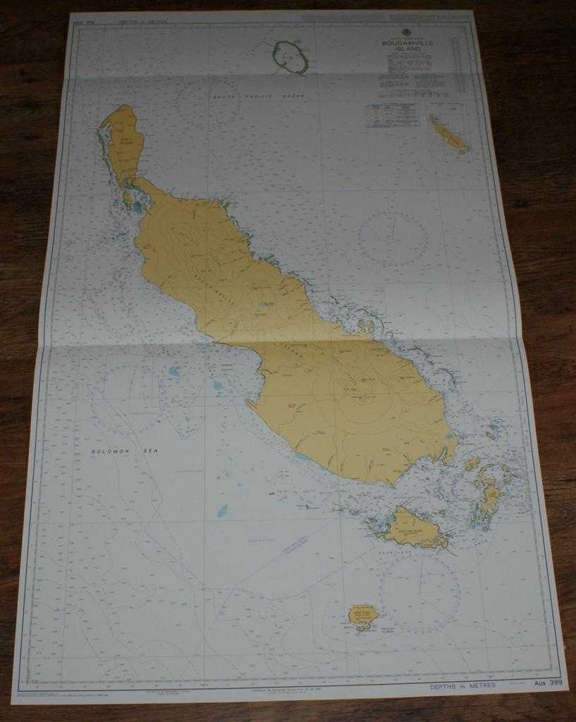 Image for Nautical Chart No. AUS 399 South Pacific Ocean - Bougainville Island