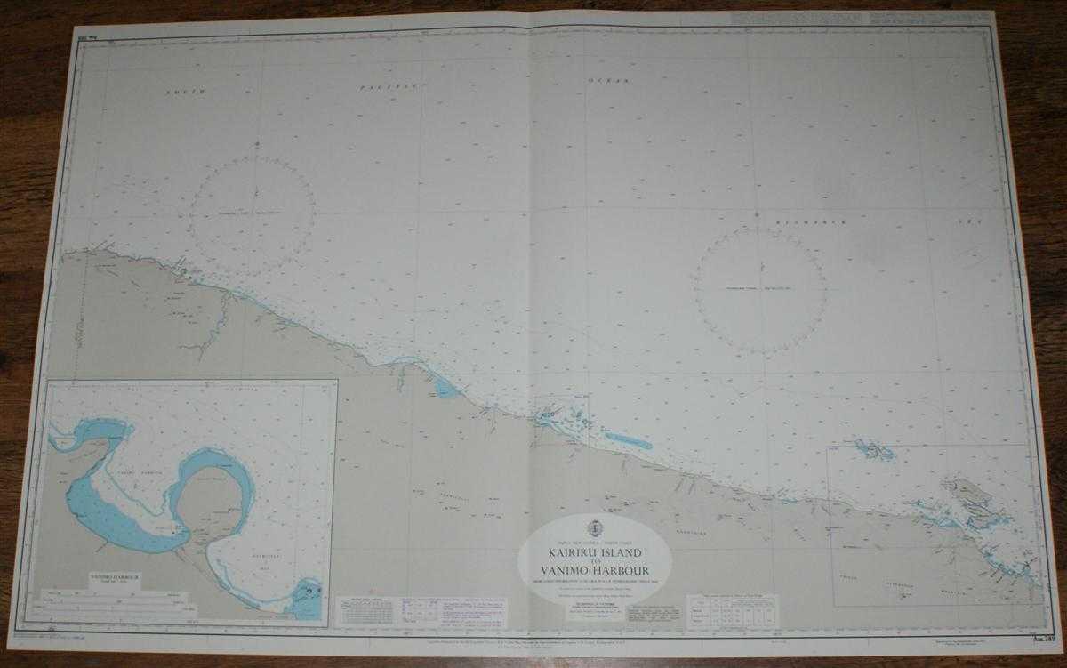 Image for Nautical Chart No. AUS 389 Papua New Guinea - North Coast, Kairiru Island to Vanimo Harbour