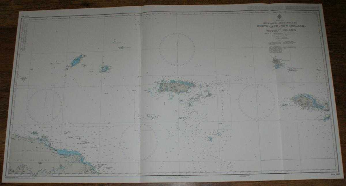 Image for Nautical Chart No. AUS 462 Pacific Ocean - Bismarck Archipelago, North Cape, New Ireland to Wuvulu Island