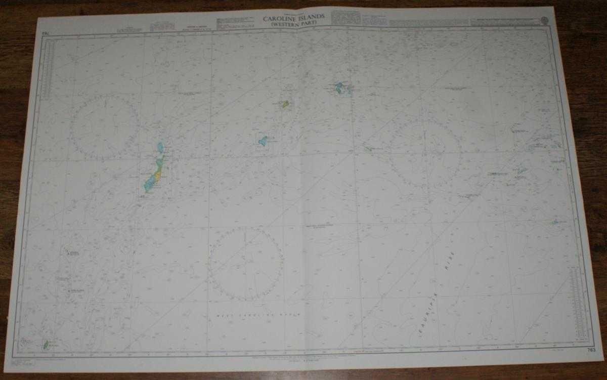 Image for Nautical Chart No. 763 North Pacific Ocean, Caroline Islands - Western Part