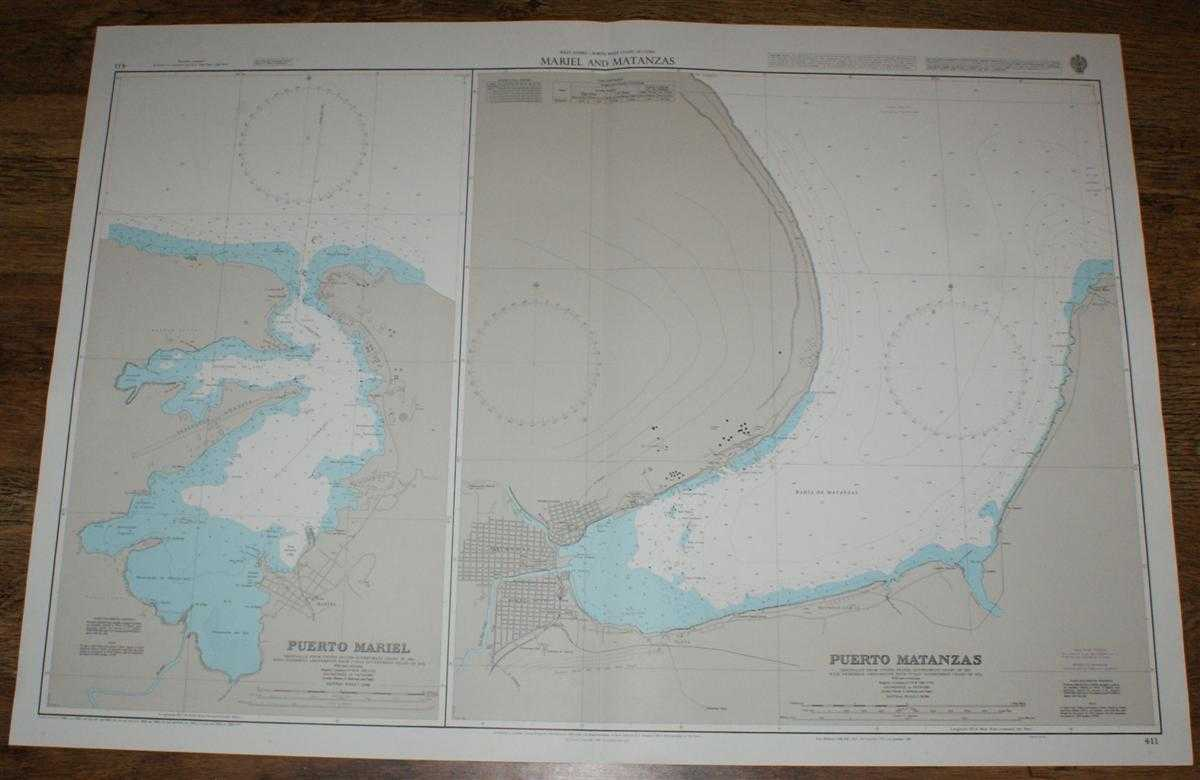 Nautical Chart No. 411 West Indies - North West Coast of Cuba, Mariel and Matanzas, Admiralty