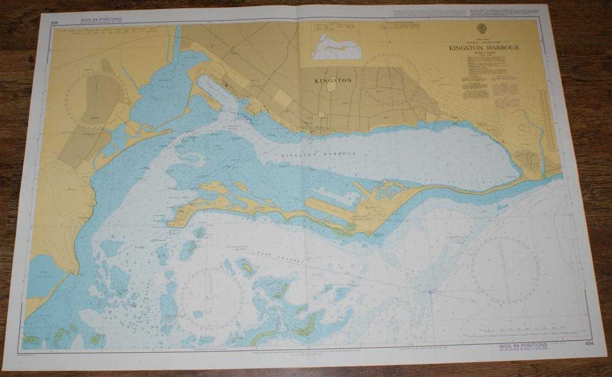 Image for Nautical Chart No. 454 West Indies, Jamaica - South Coast, Kingston Harbour