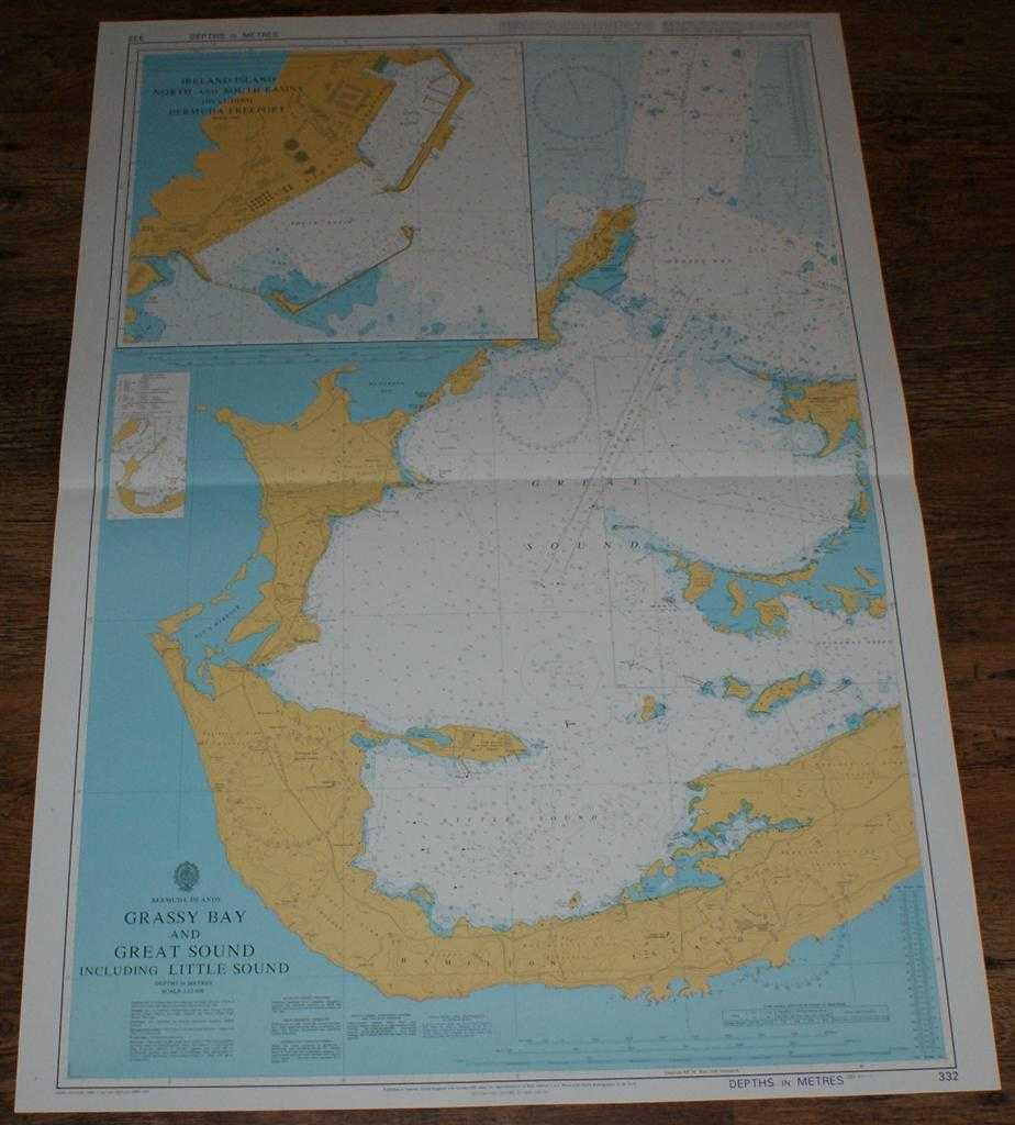 Nautical Chart No. 332 Bermuda Islands - Grassy Bay and Great Sound including Little Sound, Admiralty