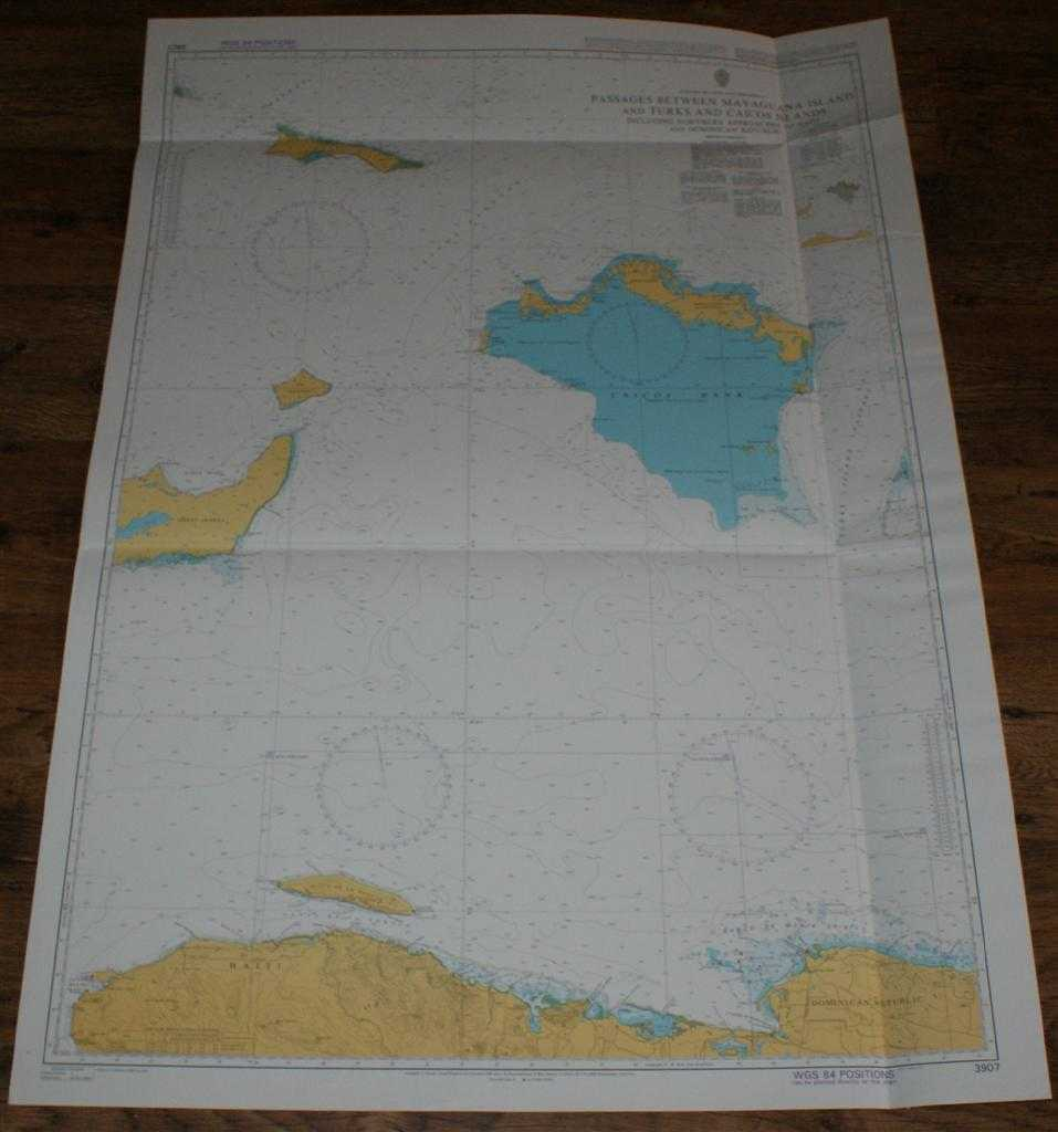 Nautical Chart No. 3907 Passages Between Mayaguana Island and Turks and Caicos Islands including Northern Approaches to Haiti and Dominican Republic, Admiralty