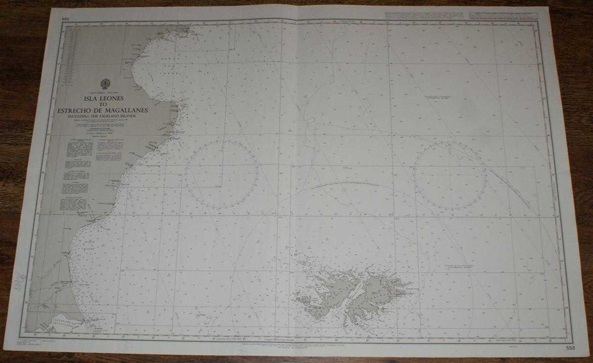 Image for Nautical Chart No. 558 South America - East Coast, Isla Leones to Estrecho de Magallanes including the Falkland Islands