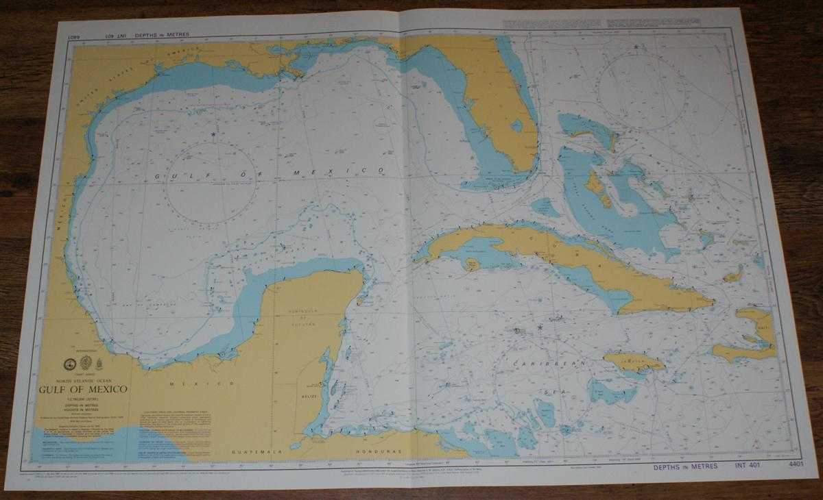 Nautical Chart No. 4401 North Atlantic Ocean - Gulf of Mexico, Admiralty
