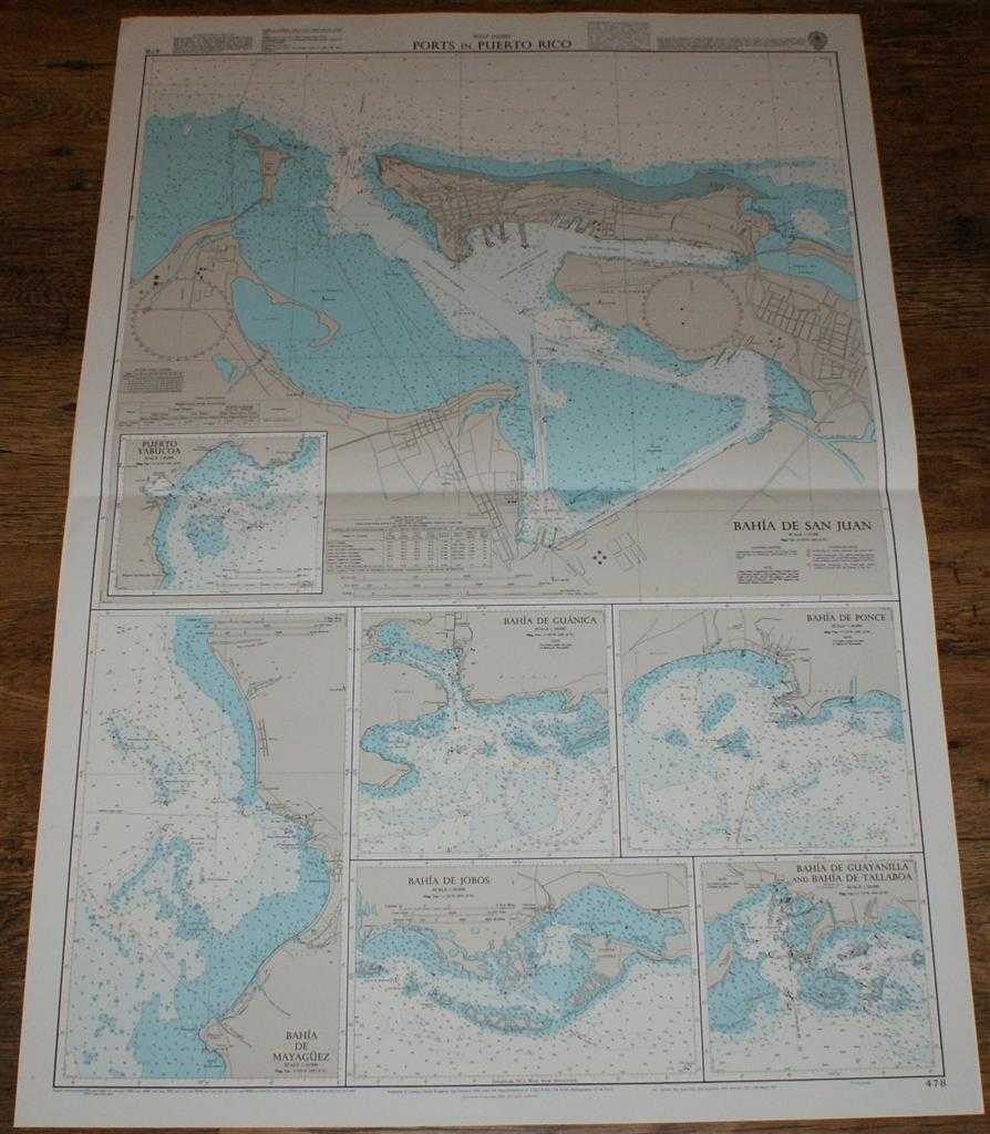 ADMIRALTY - Nautical Chart No. 478 West Indies - Ports in Puerto Rico