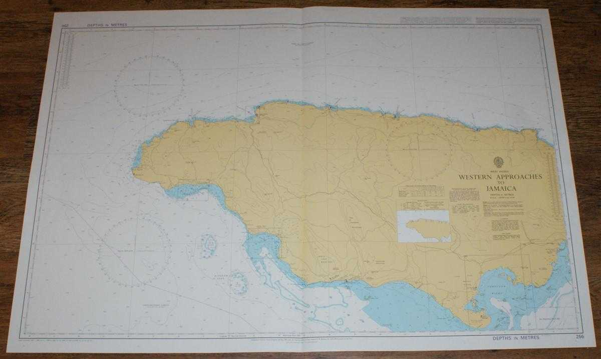 Nautical Chart No. 256 West Indies - Western Approaches to Jamaica, Admiralty
