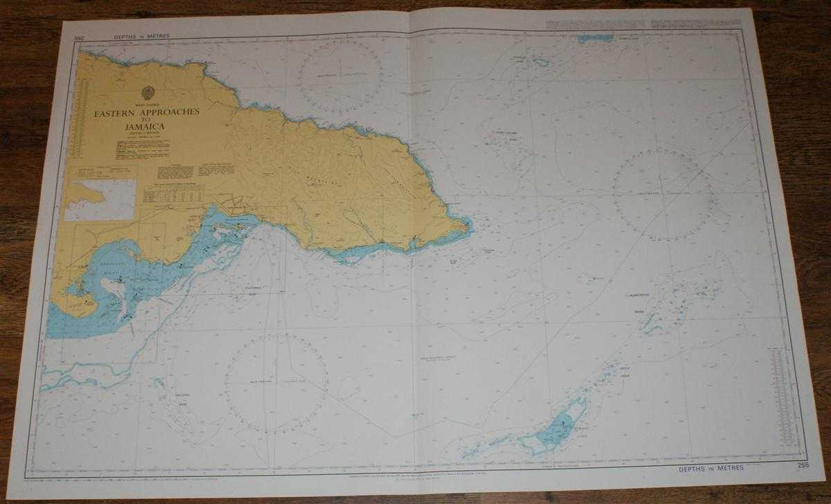 Nautical Chart No. 255 West Indies - Eastern Approaches to Jamaica, Admiralty