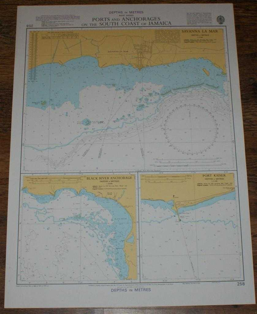 Nautical Chart No. 258 West Indies - Ports and Anchorages on the South Coast of Jamaica, Admiralty