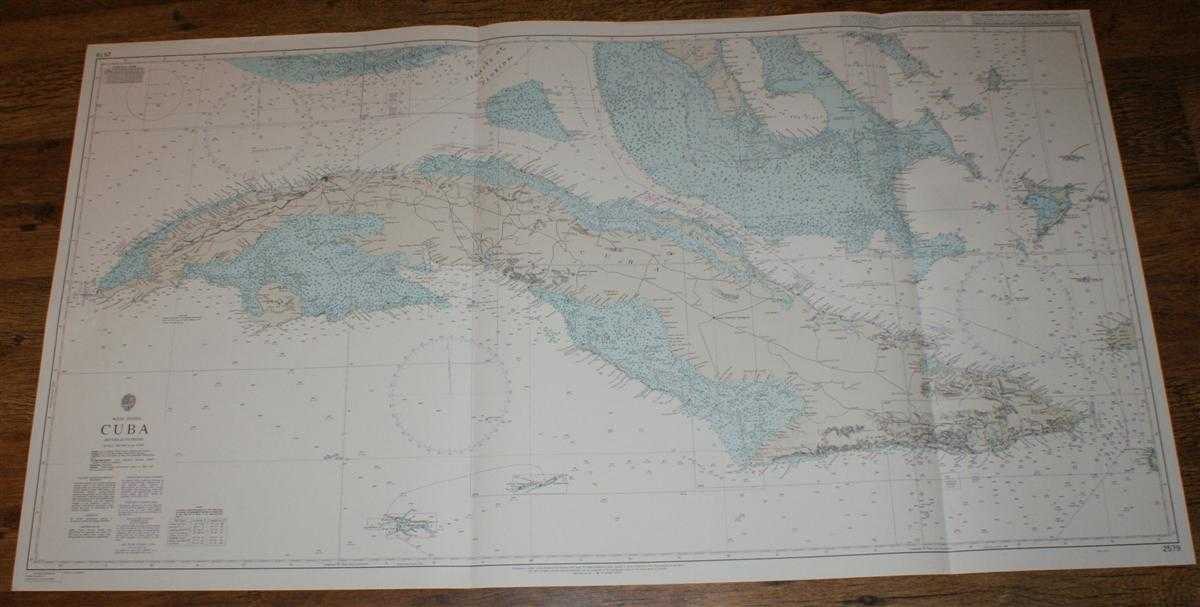 Nautical Chart No. 2579 West Indies - Cuba (including Caymans), Admiralty