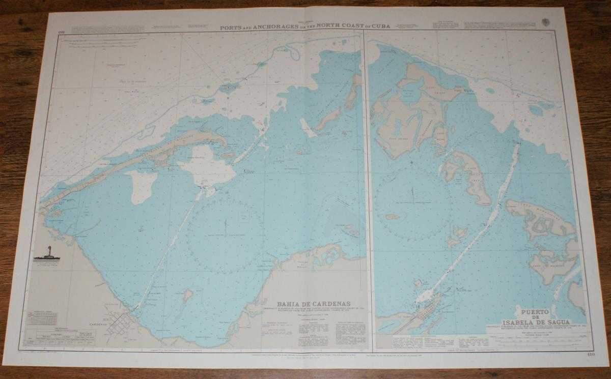 Nautical Chart No. 410 West Indies - Ports and Anchorages on the North Coast of Cuba, Admiralty