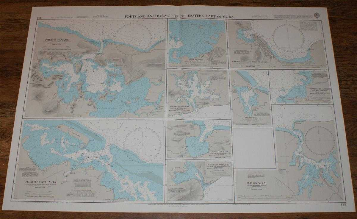 Nautical Chart No. 435 Ports and Anchorages in the Eastern Part of Cuba, Admiralty