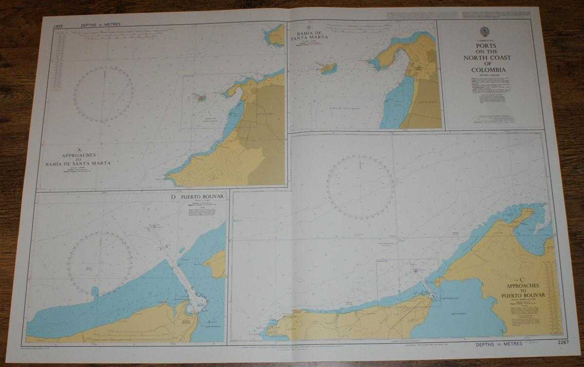 Nautical Chart No. 2267 Caribbean Sea - Ports on the North Coast of Columbia, Admiralty
