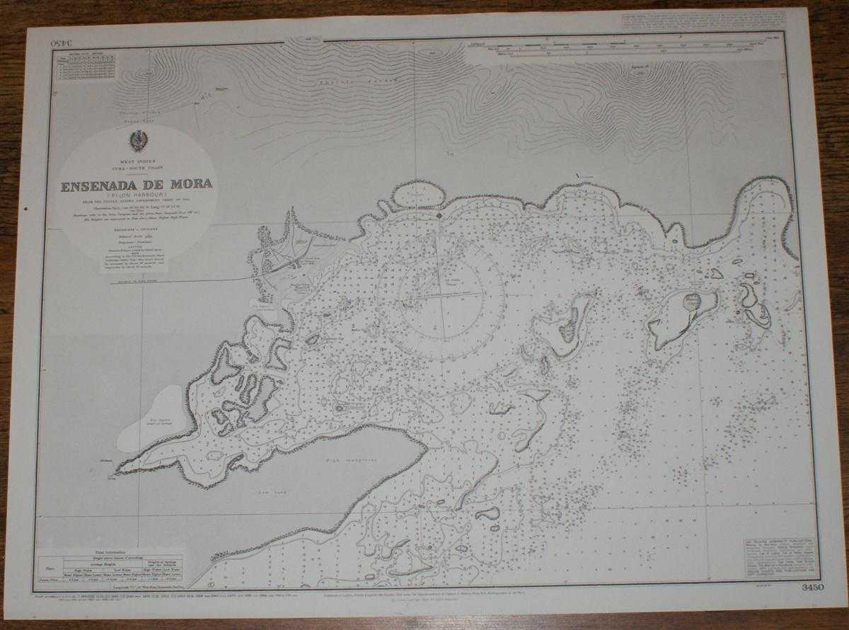Nautical Chart No. 3450 West Indies, Cuba - South Coast, Ensenada de Mora, Admiralty