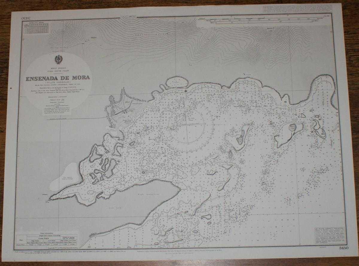 Image for Nautical Chart No. 3450 West Indies, Cuba - South Coast, Ensenada de Mora