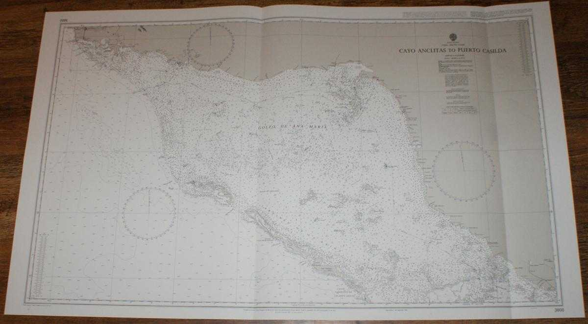 Nautical Chart No. 3800 West Indies, Cuba - South Coast, Cayo Anclitas to Puerto Casilda, Admiralty