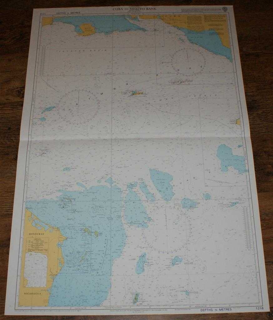 Nautical Chart No. 1218 Caribbean Sea - Cuba to Miskito Bank including Cayman, Admiralty