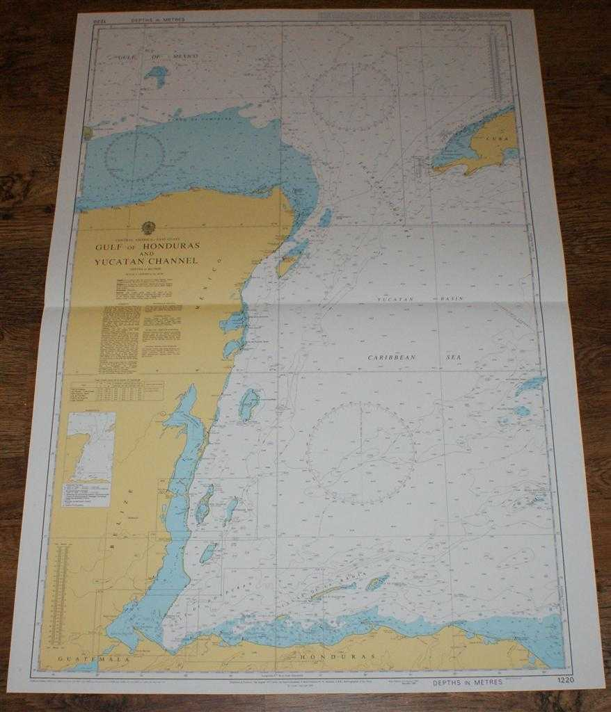 Nautical Chart No. 1220 Central America - East Coast, Gulf of Honduras and Yucatan Channel, Admiralty