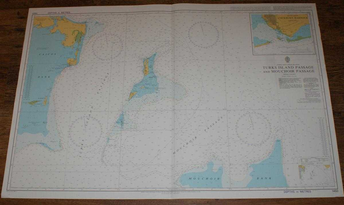 Nautical Chart No. 1450 Turks and Caicos Islands - Turks Island Passage and Mouchoir Passage, Admiralty