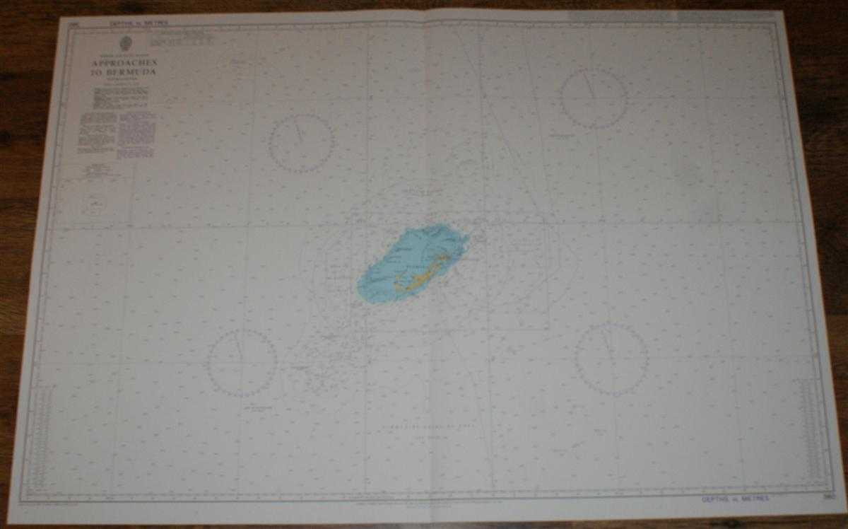 Nautical Chart No. 360 North Atlantic Ocean - Approaches to Bermuda, Admiralty