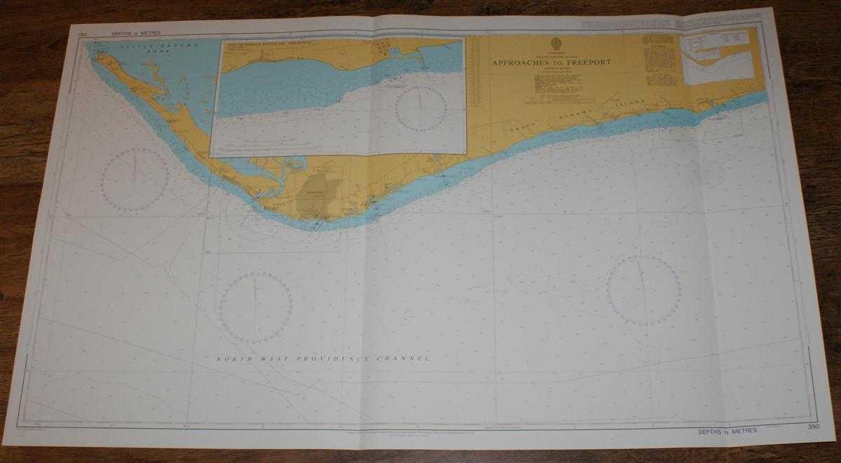 Image for Nautical Chart No. 390 Bahamas - Grand Bahama Island, Approaches to Freeport