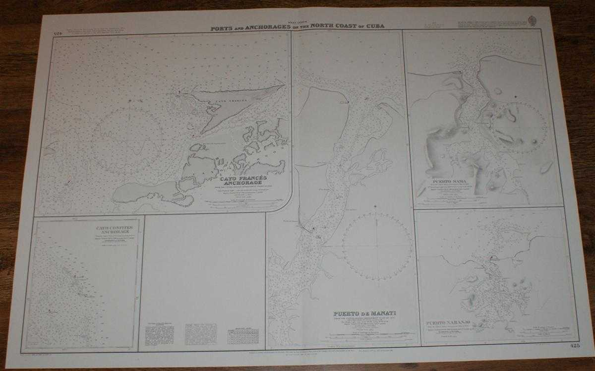 Nautical Chart No.425 West Indies - Ports and Anchorages on the North Coast of Cuba, Admiralty