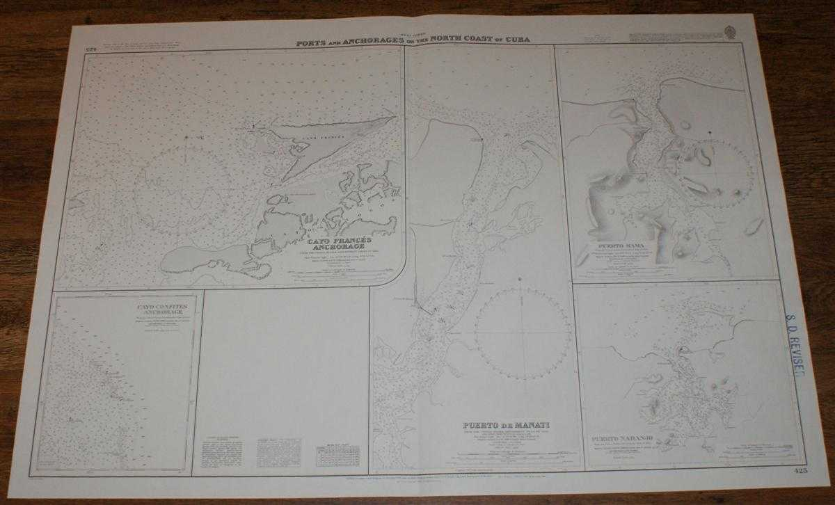 Nautical Chart No. 425 West Indies - Ports and Anchorages on the North Coast of Cuba, Admiralty