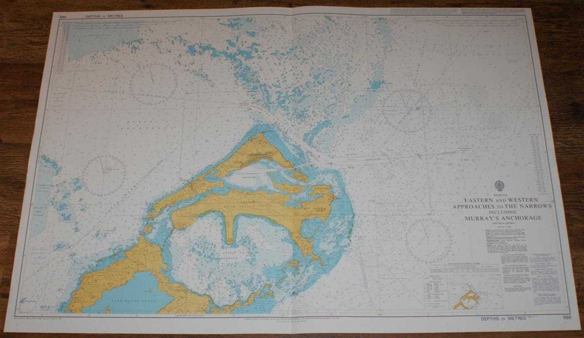 Image for Nautical Chart No. 868 Bermuda - Eastern and Western Approaches to the Narrows including Murray's Anchorage