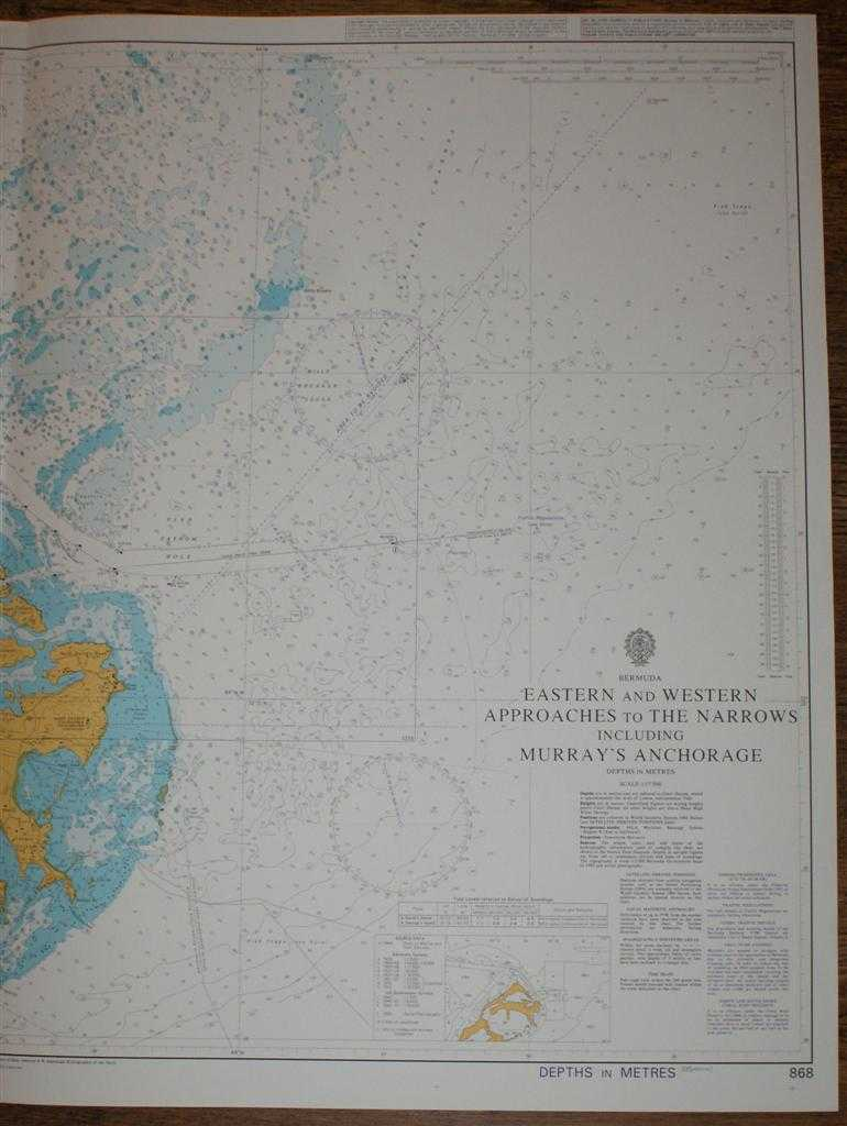 Eastern /& Western Approaches to The Narrows Bermuda Nautical Chart Tote Bag