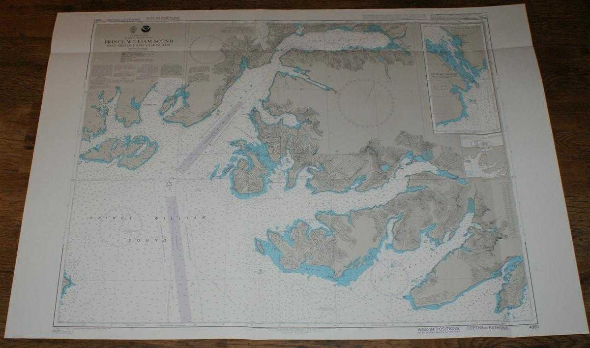Image for Nautical Chart No. 4981 United States, Alaska - South Coast, Prince William Sound, Port Fidalgo and Valdez Arm