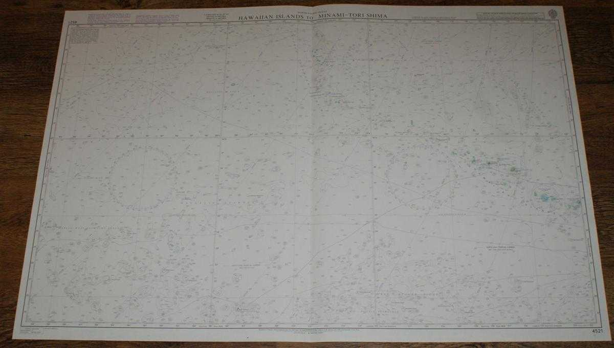 Nautical Chart No. 4521 North Pacific Ocean, Hawaiian Islands to Minami-Tori Shima, Admiralty