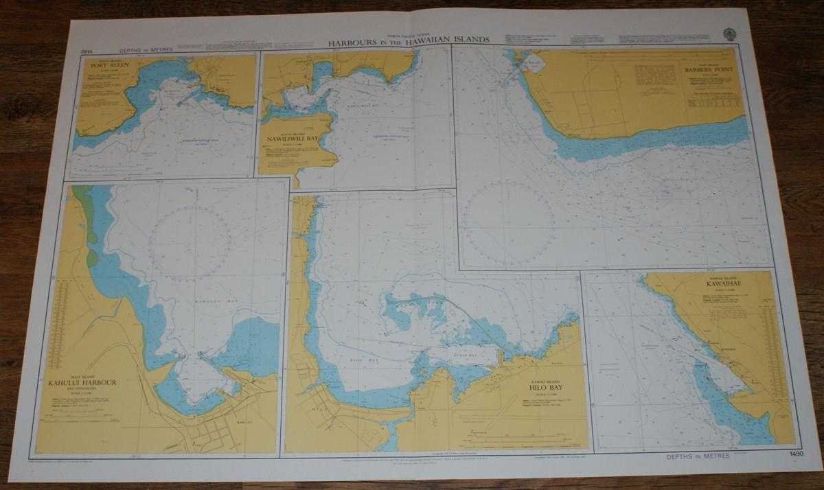 Nautical Chart No. 1490 North Pacific Ocean - Harbours in the Hawaiian Islands, Admiralty
