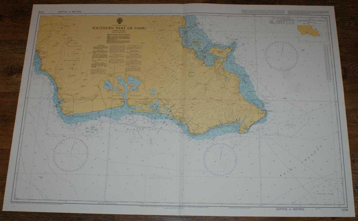 Nautical Chart No. 1378 United States - Hawaii, Southern Part of Oahu including Pearl Harbour, Admiralty