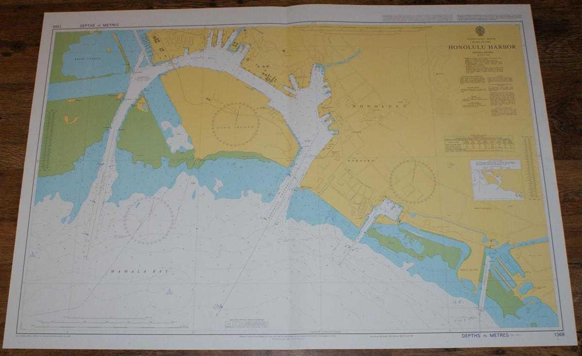 Details about Nautical Chart No. 1368 United States - Hawaii, Island of  Oahu, Honolulu Harbour