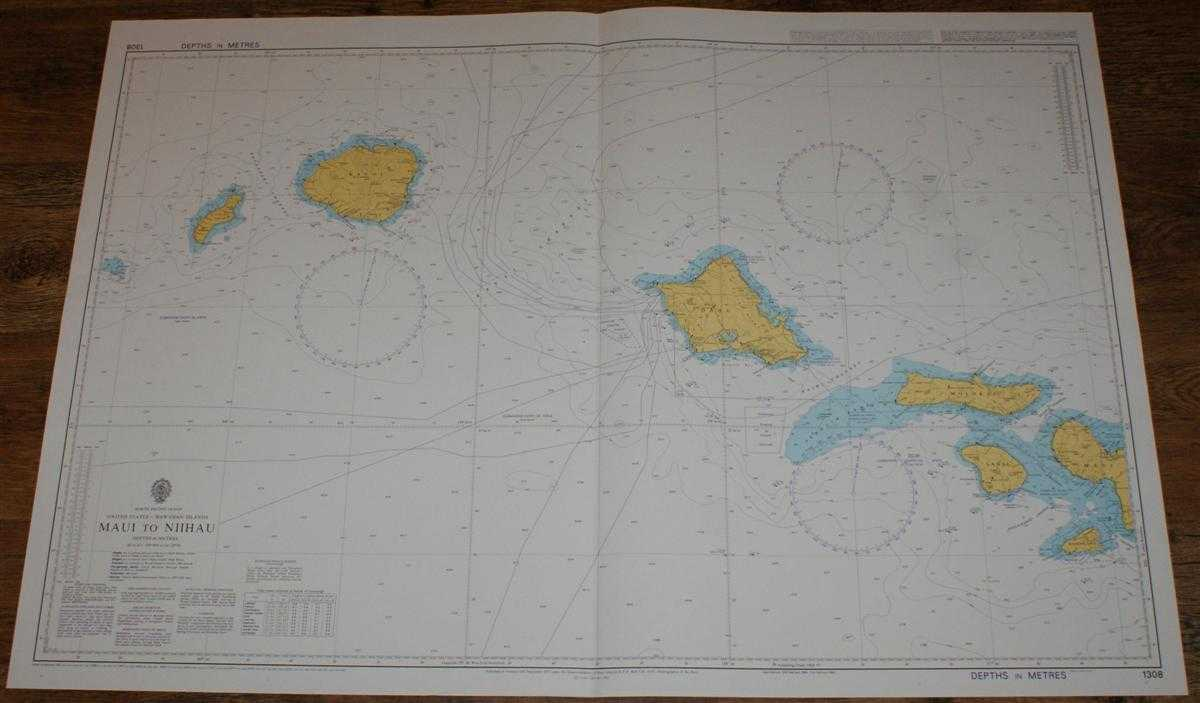 Nautical Chart No. 1308 North Pacific Ocean, United States - Hawaiian Islands, Maui to Niihau, Admiralty