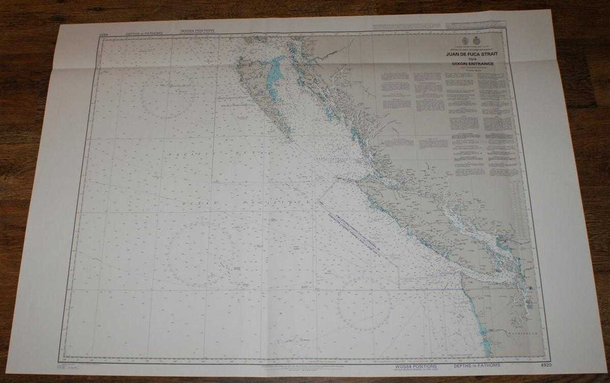 Nautical Chart No. 4920 Canada and USA - West Coast, British Columbia, Juan de Fuca Strait to Dixon Entrance, Admiralty