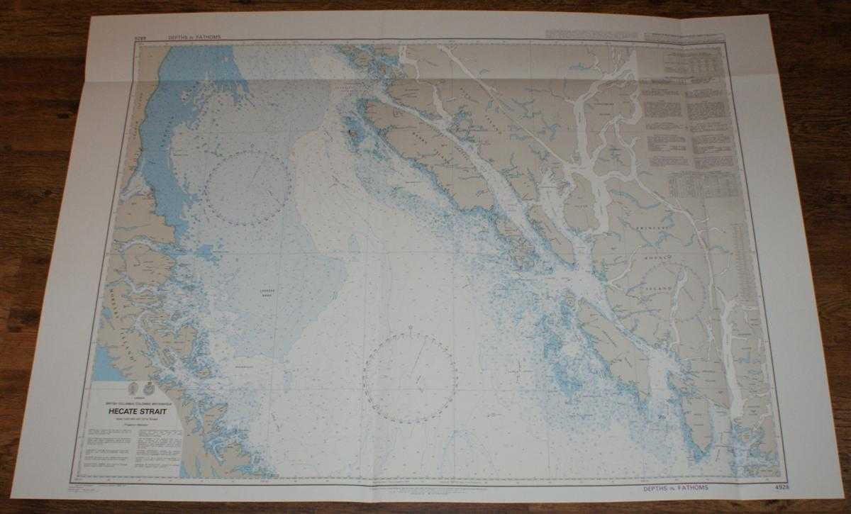Nautical Chart No. 4928 Canada - British Columbia, Hecate Strait, Admiralty